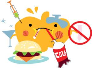 Liver eating junk food